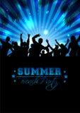 夏天音乐背景-传染媒介 库存照片