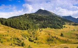 夏天风景全景在山的 库存照片