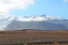 夏天风景在冰岛。 免版税库存照片