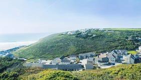 夏天风景在康沃尔郡,英国 免版税库存图片