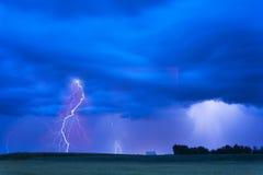 夏天风暴来临 库存图片