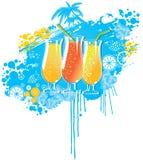 夏天饮料 向量例证