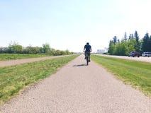 夏天骑自行车 免版税库存照片