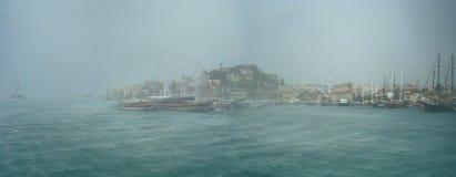 夏天,马尔马里斯港的结尾 免版税图库摄影