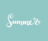 夏天 刷子手写的字法 也corel凹道例证向量 现代书法 免版税库存照片