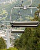夏天滑雪吊车 颜色女儿图象母亲二 库存图片