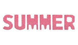 夏天 颜色红色 免版税库存图片