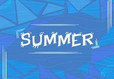 夏天& x28; 与waves& x29的蓝色背景; 库存照片