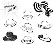 夏天fashion_hats 免版税库存图片
