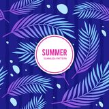 夏天Vibe无缝的样式 免版税库存照片
