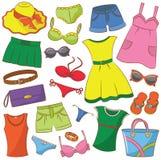 夏天Womenswear和辅助部件 免版税图库摄影