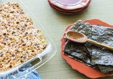 夏威夷人被烤的寿司 免版税库存照片