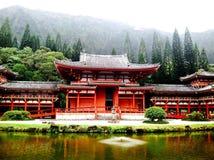 夏威夷佛教寺庙 免版税库存图片