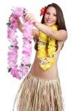 夏威夷列伊妇女 库存图片