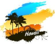 夏威夷夏天海滩 库存例证