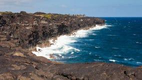 夏威夷大海岛峭壁 库存照片