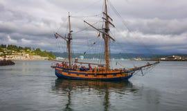 夏威夷头目和Yaquina海湾 库存照片