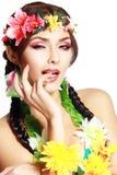 夏威夷女孩组成 库存照片
