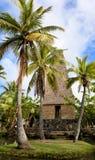 夏威夷小屋海岛奥阿胡岛玻利尼西亚人 免版税库存图片