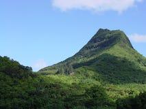 夏威夷山奥阿胡岛olomana土坎 免版税库存照片