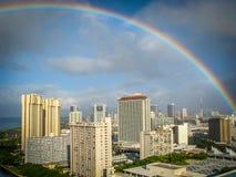 夏威夷彩虹 免版税图库摄影
