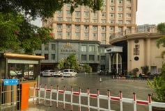 夏威夷旅馆在三亚市旅游区  库存图片
