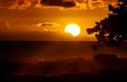 夏威夷日落6 免版税库存图片
