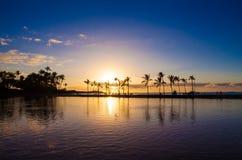 夏威夷日落 免版税库存图片