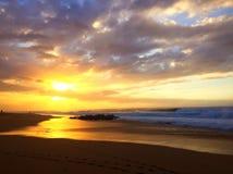 夏威夷日落 库存图片