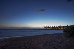 夏威夷晚上 库存照片