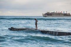 夏威夷晚餐巡航 免版税库存照片