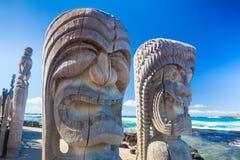 夏威夷木头雕刻 图库摄影