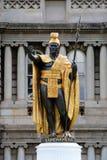 夏威夷檀香山kamehameha国王雕象 免版税库存图片