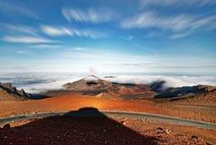 夏威夷毛伊Haleakala火山宽视图 免版税库存图片