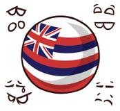 夏威夷海岛球 库存例证