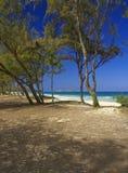 夏威夷海岛lanikai视图 免版税库存照片
