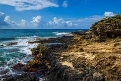 夏威夷海岸线水平 免版税库存图片