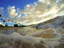 夏威夷海滩波浪 免版税图库摄影