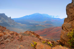夏威夷火山的风景 免版税库存照片