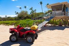 夏威夷生活海岸警卫大海岛 库存照片