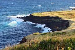 夏威夷的大岛的海岸线 免版税图库摄影