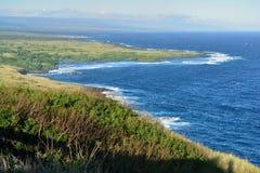 夏威夷的大岛的海岸线 库存照片