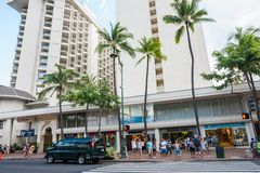 夏威夷的威基基 库存图片