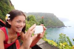 夏威夷的游人 免版税库存图片