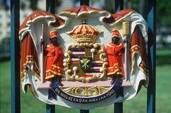 夏威夷的状态国会大厦详细资料  免版税库存照片