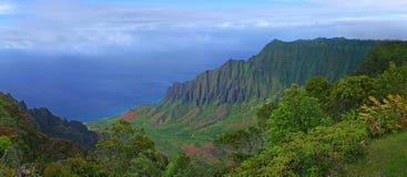 夏威夷考艾岛山 免版税库存照片