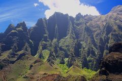 夏威夷考艾岛kaualau谷 图库摄影