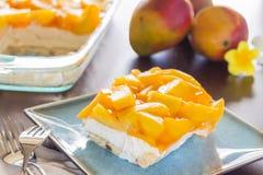 夏威夷芒果Jello乳酪蛋糕 免版税库存图片