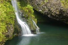 夏威夷风景瀑布 库存照片