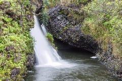 夏威夷-毛伊瀑布优美的风景  图库摄影